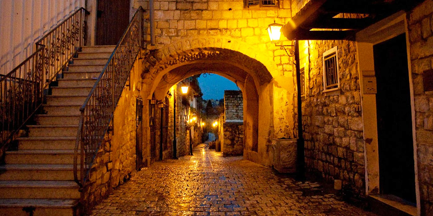 Ancient holy city of Safed in Galilee